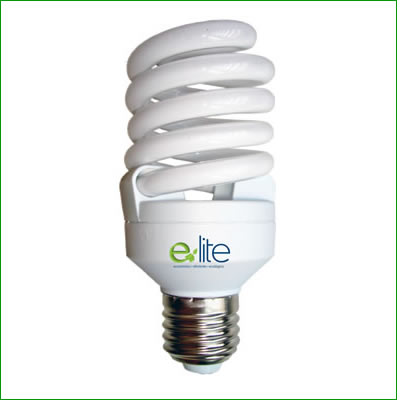 ELT 10 Watt Warm Light (2700K) Mini Spiral CFL Light Bulb
